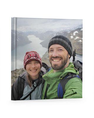 Fotoboek vlakliggend 21x21 cm vierkant