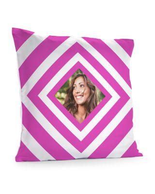 Kussensloop 40 x 40 cm 'Pink squares' met eigen foto