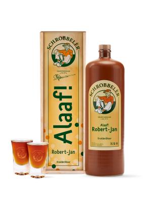 Schrobbelèr 2L cadeaupakket Alaaf met 2 GRATIS shotglaasjes