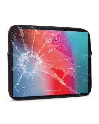 Laptop sleeve 17 inch Gebroken glas