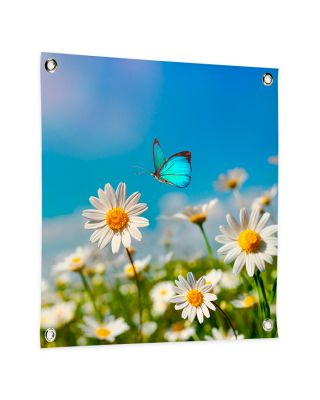 Tuinposter eigen ontwerp 100x100 cm vierkant